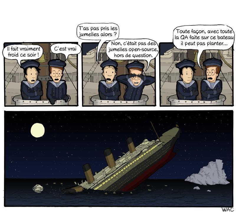 WAC WeAreCoders Titanic Bateau Erreur Fail Geek
