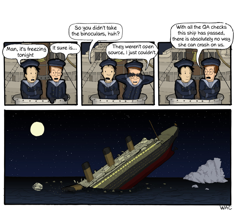 WAC WeAreCoders Titanic Geek Boat Fail