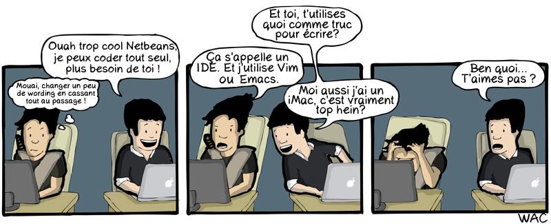 WAC WeAreCoders Emacs IDE iMac
