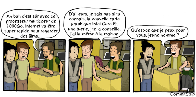 CommitStrip Magasin Informatique FNAC