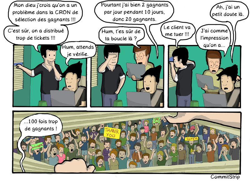CommitStrip Instant gagnant Erreur Gagnants