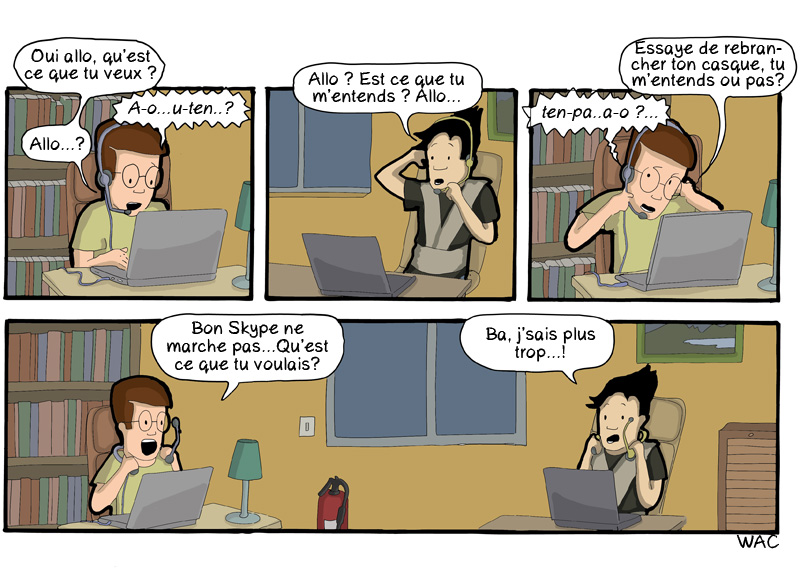 CommitStrip Blog - Skype Open Space Paradoxe