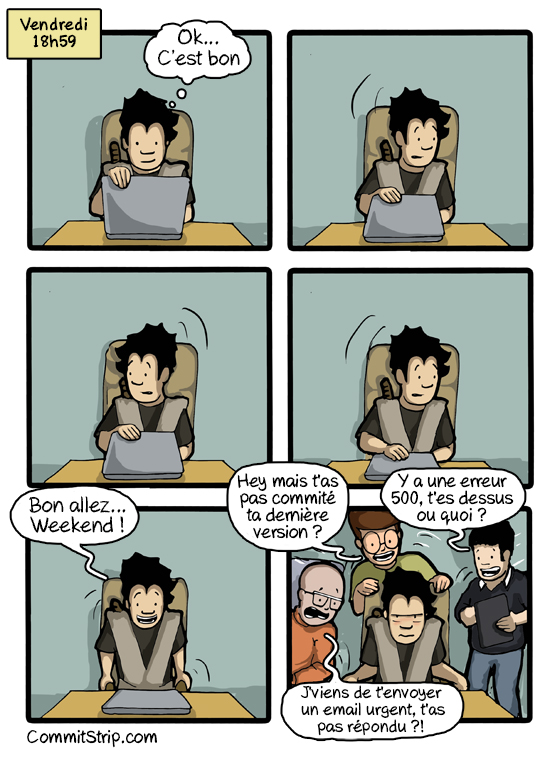 murhpy 39 s law applied to coders commitstrip. Black Bedroom Furniture Sets. Home Design Ideas