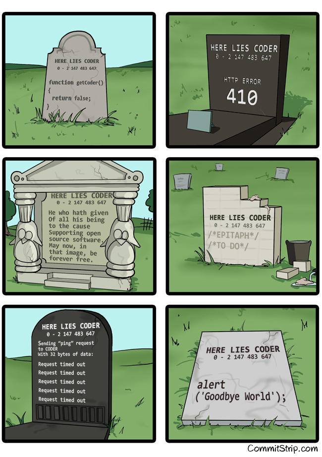 Coder Epitaphe