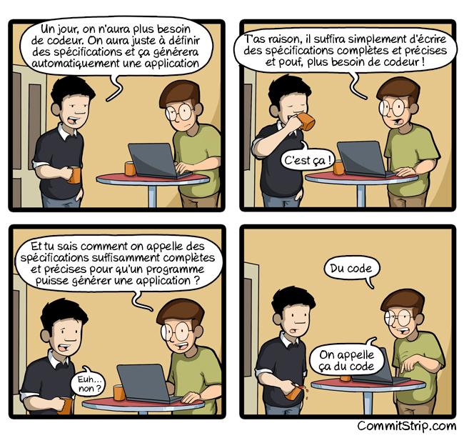 spécifications versus code