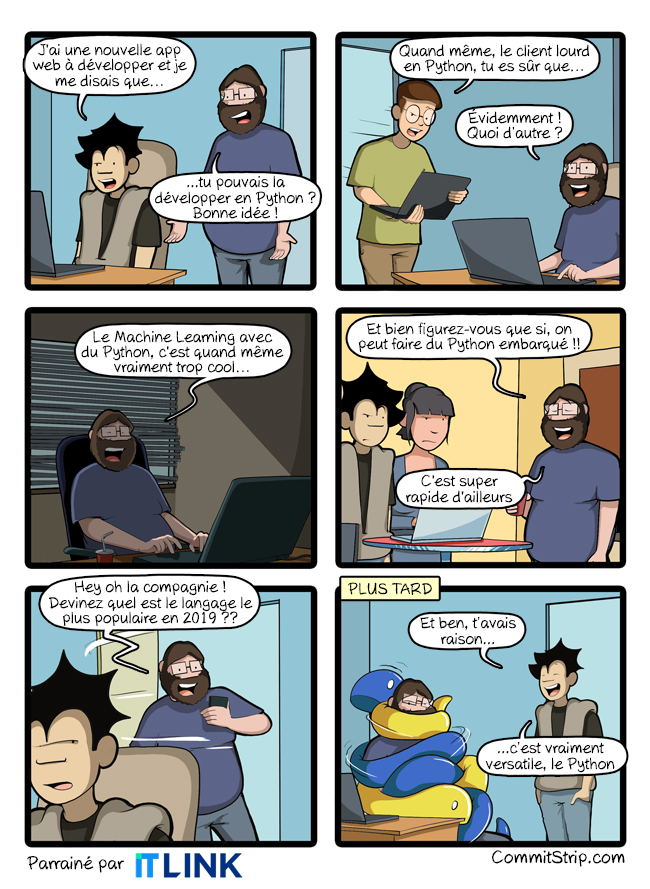CommitStrip – Python, What Else?